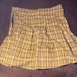 Mini skirt shein clueless style yellow skirt